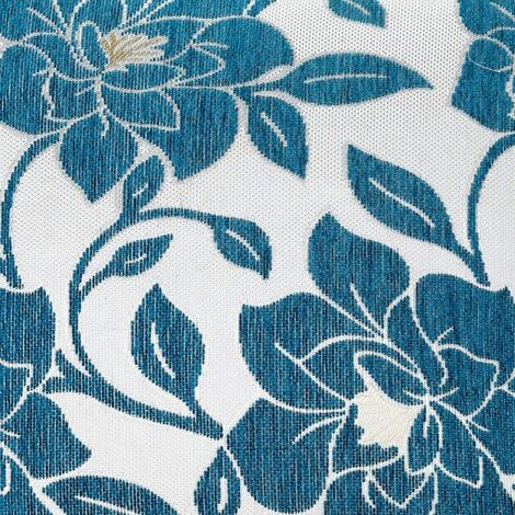 """Peony 18"""" Teal Cushion Cover Bed Sofa Accessory Unfilled"""