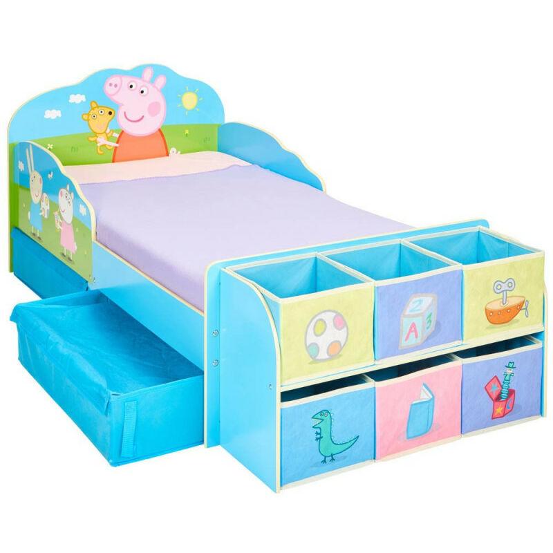 Lit enfant Peppa Pig Famille avec tiroirs et 6 cubes de rangement - MOOSE TOYS