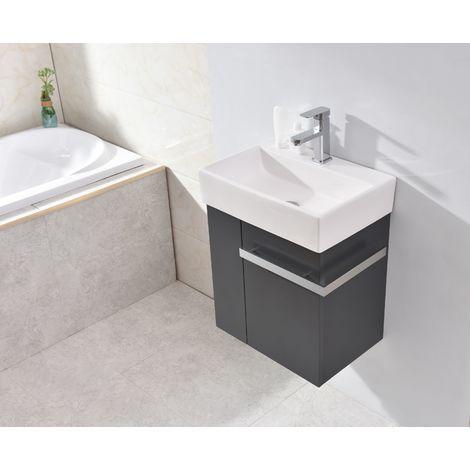 Pequeño mueble de baño Compact 500 - antracita mate