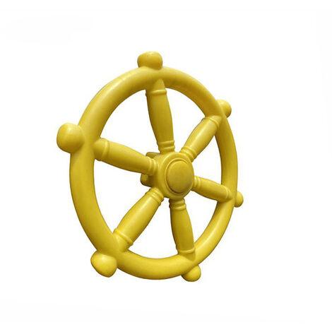 """main image of """"Pequeno volante de plastico, juguetes de jardin de infantes, accesorios de columpio, equipo de entretenimiento, diametro 30 cm, amarillo"""""""