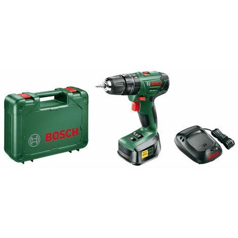 Perceuse à percussion 18V Bosch PSB 1800 Batterie lithium 1,5 Ah 2 vitesses Eclairage LED Chargeur Mallette