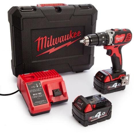 Perceuse à percussion 18V livrée avec 2 batteries 4Ah Li-Ion - MILWAUKEE - M18 BLPD2-402X