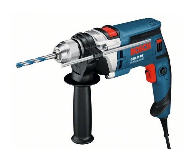 BOSCH - Perceuse percussion 750W GSB 16 RE en coffret standard - 060114E500