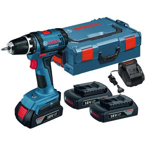 Perceuse à percussion BOSCH GSB 18 V- E + 2 batteries + un chargeur - 0 601 9D7 105