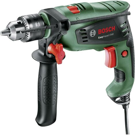Perceuse à percussion Bosch Home and Garden EasyImpact 540 0603130200 1 vitesse-550 W + mallette 1 pc(s)