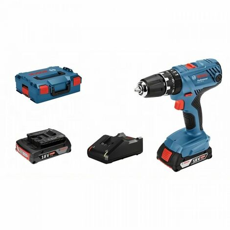 Perceuse a Percussion BOSCH PROFESSIONAL GSB 18V- 21 + 2 batteries 2,0Ah + chargeur GAL 1820 LC