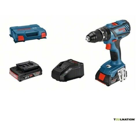 Perceuse a Percussion BOSCH PROFESSIONAL GSB 18V-28 + 2 batteries 2,0Ah + chargeur GAL 18V-20 + L-Case