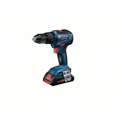 Perceuse a Percussion BOSCH PROFESSIONAL GSB 18V-55 + 2 batteries 2,0Ah + chargeur GAL 18V-40