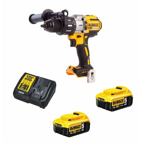 Perceuse à Percussion DeWALT DCD996P2-SK (2 x 5,0 Ah DCB115 Carton)