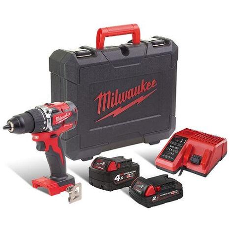 Perceuse à percussion M18 CBLPD-422C + 2 Batteries + Chargeur + Coffret MILWAUKEE - 4933472116