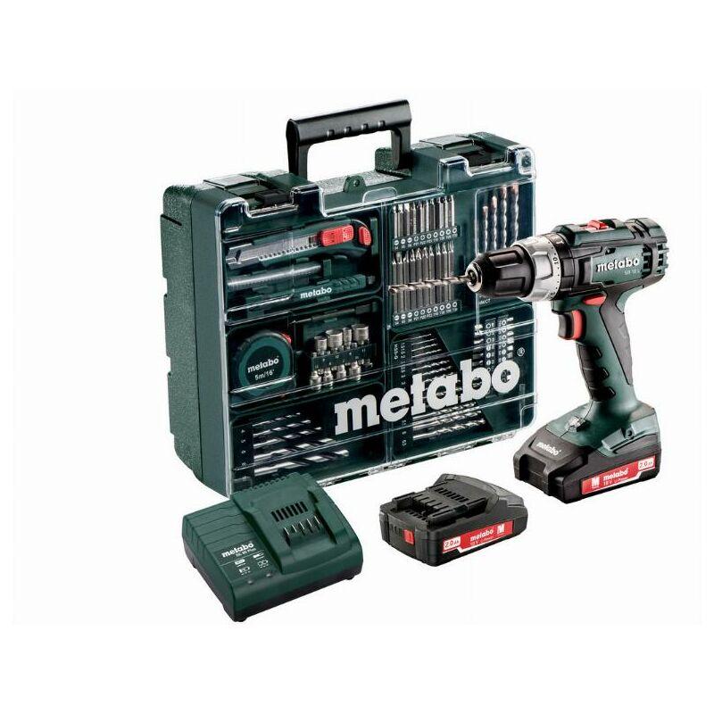 Metabo - Perceuse à percussion à batterie 18V 2Ah Li-Ion avec set d'accessoires - SB 18 L Set