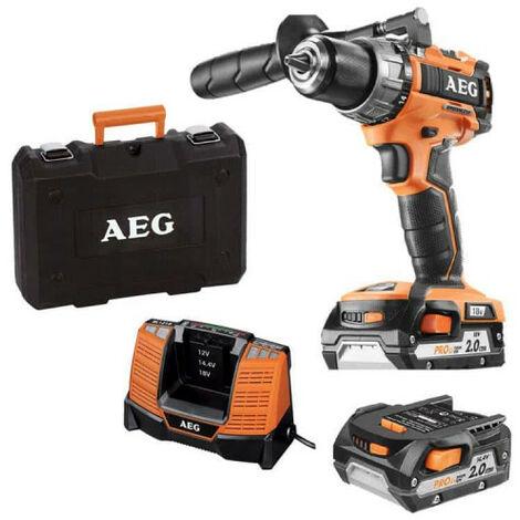 Perceuse AEG compacte 18V Li-ion BS 18C2BL-202C - 2 batteries 2.0Ah - 1 chargeur