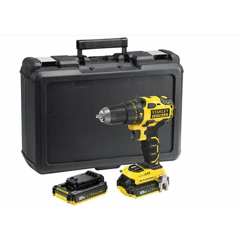 Perceuse Brushless 18V 2 Batteries Lithium ion 2.0 Ah STANLEY FATMAX Chargeur rapide + Coffret FMC627D2