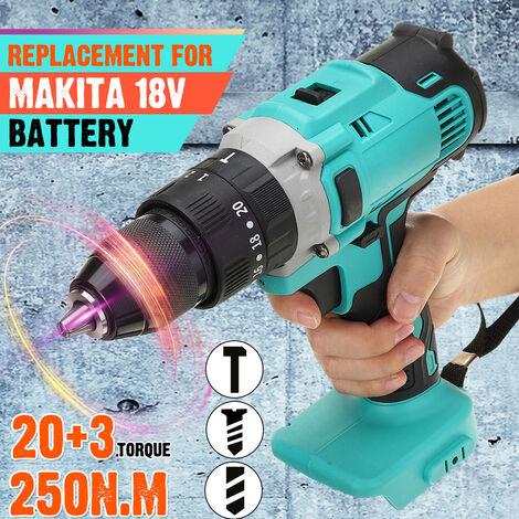 Perceuse électrique sans fil 350N.m pour batterie Makita 18V (batterie non incluse)