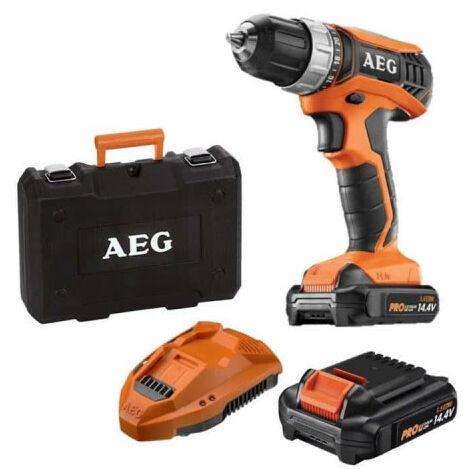 Perceuse percussion AEG 14V tradesman Gen III BS14G3LI-152C - 2 batteries 1,5Ah - 1 chargeur