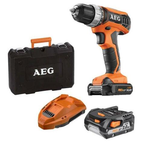 Perceuse percussion AEG 14V tradesman Gen III BSB14G3LI-202C - 2 batteries 2,0Ah - 1 chargeur