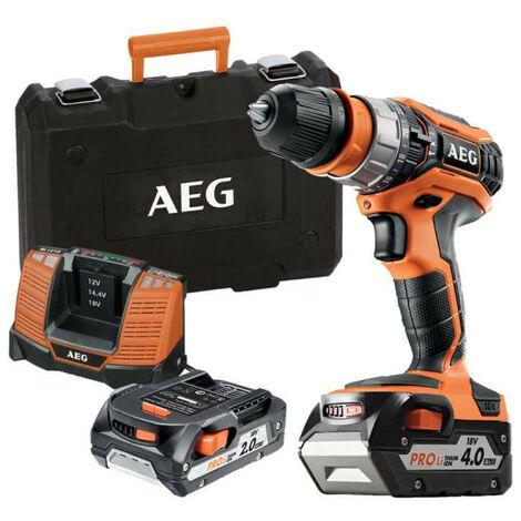 Perceuse percussion AEG 18V - 1 batterie 2.0Ah - 1 batterie 4.0Ah - 1 chargeur BSB18C2XLI-X02C