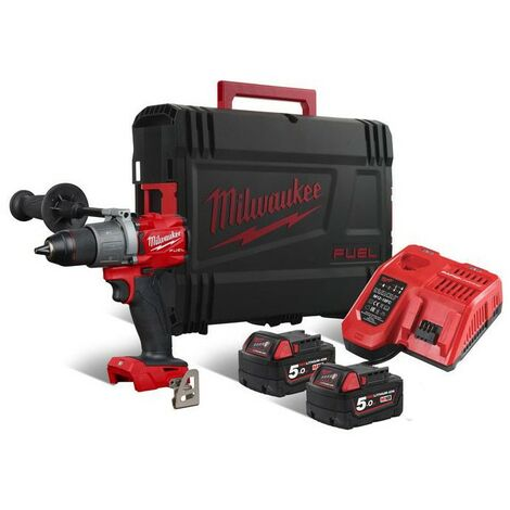 Perceuse Percussion FUEL 3GEN, 18V, 135 Nm + 2 batteries, chargeur et HD Box - Milwaukee - M18 FPD2-502X