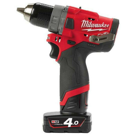 Perceuse percussion MILWAUKEE FUEL M12 FPD-402X - 2 batterie 12V 4.0 Ah - 1 chargeur C12C 4933459804
