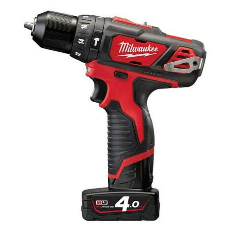 Perceuse percussion MILWAUKEE M12 BPD-402C - 2 batteries 12V 4.0Ah - 1 chargeur C12C 4933441935