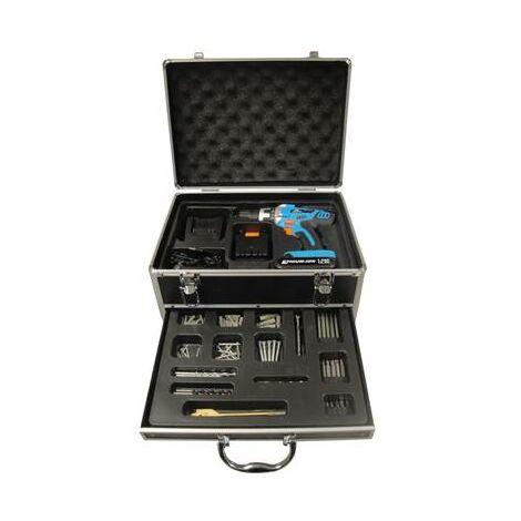 Perceuse sans fil 14,4V en malette Alu + 77 accessoires complet