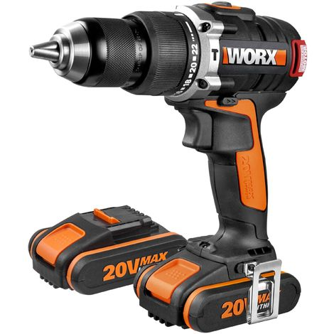 PERCEUSE SANS FIL BRUSHLESS 20V 2 bat. WORX
