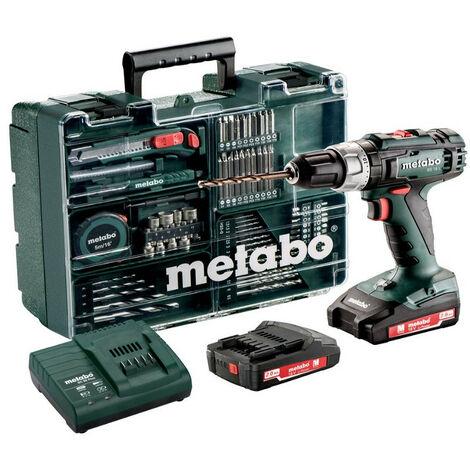 Perceuse sans fil BS 18 L + set accessoires+ 2 batteries + chargeur METABO
