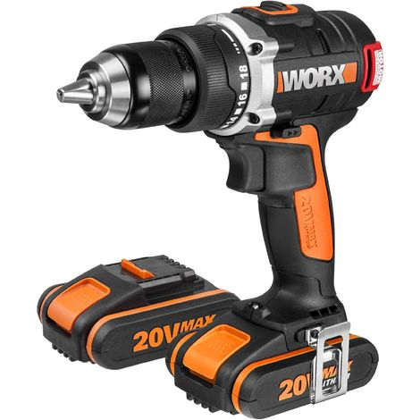PERCEUSE SANS FIL / VISSEUSE BRUSHLESS 20V 2 bat. WORX