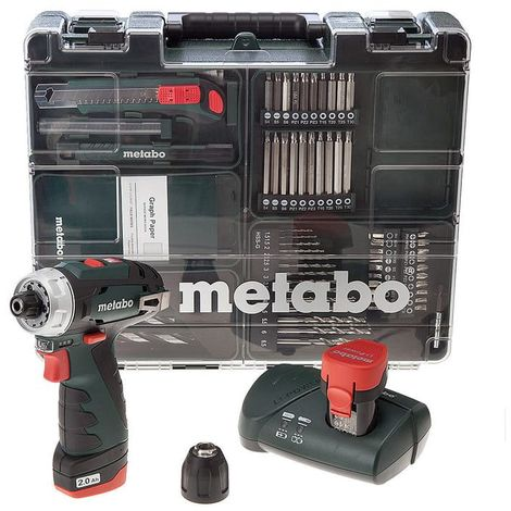 Perceuse visseuse 10.8 V (2x2.0 Ah) - METABO POWERMAXX BS BASIC SET (600080880)