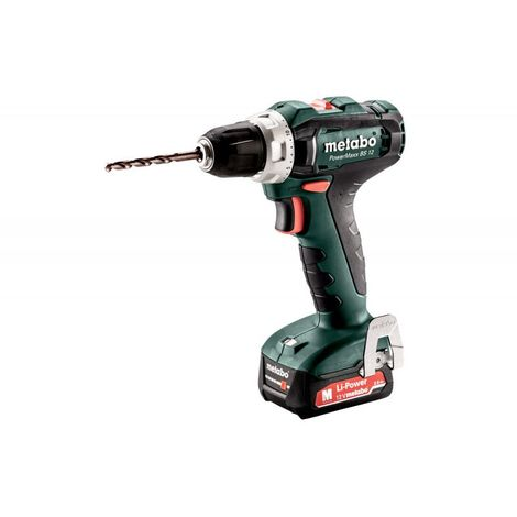 Perceuse-visseuse 12V PowerMaxx BS 12 + batteries 2Ah METABO