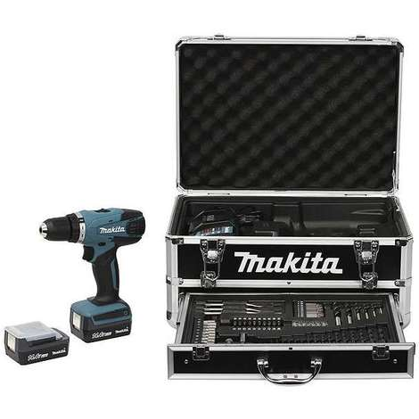 Perceuse visseuse 14,4 V Li-Ion 1,3 Ah diam. 10 mm (coffret alu) MAKITA DF347DWEX3