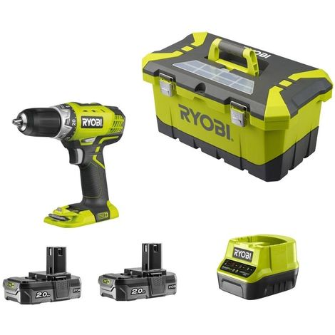 Perceuse visseuse 18V 2.0 AH Lithium+ ONE+ RYOBI RCD18-220