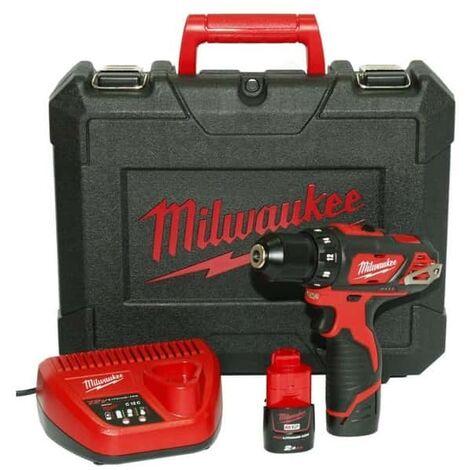 Perceuse/Visseuse 2 vitesses 2,0Ah, 30 Nm, 2 batteries, en coffret - Milwaukee - M12 BDD-202C