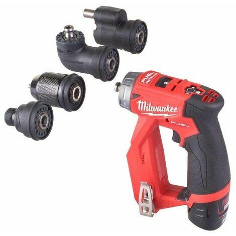 Perceuse visseuse à mandrin amovible M12 FUEL™ avec 2 batteries 2Ah, chargeur, en coffret - Milwaukee M12 FDDXKIT-202X