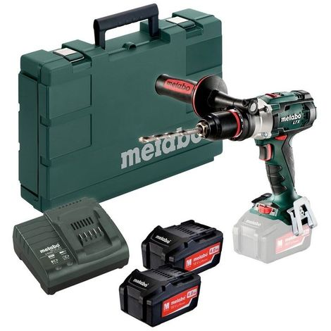 Perceuse visseuse à percussion 18V Li-Ion (2 x 4,0Ah) en coffret - Metabo SB18LTX IMPULS