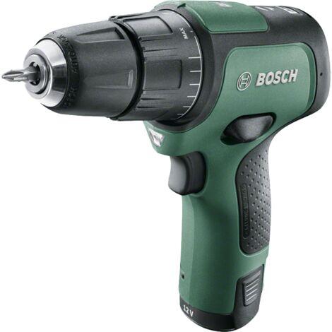Perceuse-visseuse à percussion 2 vitesses sans-fil EasyImpact 12 Bosch - Livrée avec: 1 chargeur, 1 batterie, 1 embout de vissage double et housse de rangement