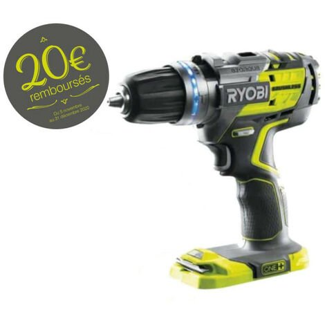 Perceuse-visseuse à percussion brushless RYOBI 18 V OnePlus - sans batterie ni chargeur R18PDBL-0