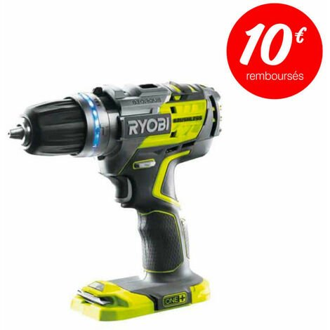 Perceuse-visseuse à percussion RYOBI 18V OnePlus brushless - sans batterie ni chargeur - R18PDBL-0