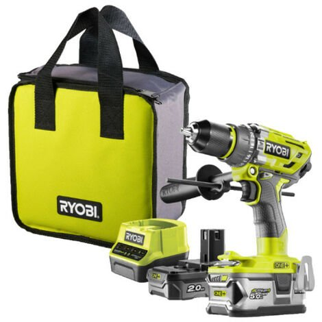 Perceuse-visseuse à percussion RYOBI Brushless OnePlus - 1 batterie 5.0 Ah - 1 batterie 2.0 Ah - 1 chargeur rapide R18PD7-252S
