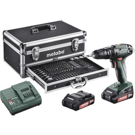 Perceuse-visseuse à percussion sans fil Metabo 602245910 18 V 2.0 Ah Li-Ion + 2 batteries, + mallette, + accessoires 1 pc(s)
