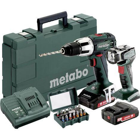 Perceuse-visseuse à percussion sans fil Metabo SB 18 LT 602103610 18 V 2 Ah Li-Ion + 2 batteries, + mallette, + lampe sans fil, + accessoires 1 pc(s)