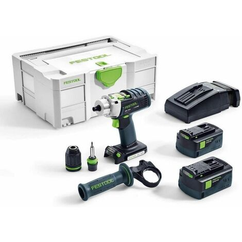 Perceuse-visseuse à percussion sans fil PDC 18/4 Li 5,2-Plus QUADRIVE Festool