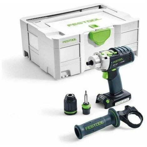 Perceuse-visseuse à percussion sans fil PDC 18/4 Li-Basic FESTOOL QUADRIVE