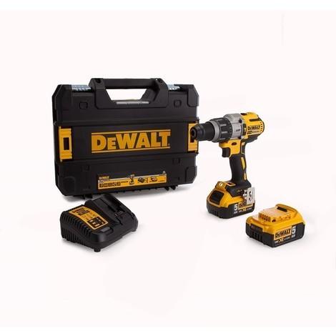Perceuse visseuse à percussion XRP DEWALT + 2 batteries 18V 5.0Ah + chargeur + coffret TSTAK - DCD997P2B