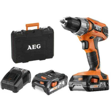 Perceuse visseuse AEG 18V 2 batteries 2,0Ah 1 chargeur BS18G3-202C