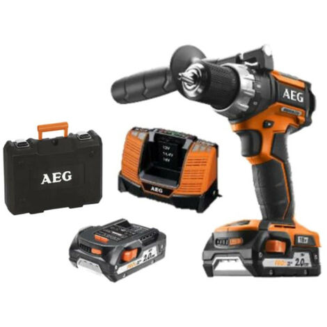 Perceuse visseuse AEG 18V Brushless 2 batteries 2,0Ah 1 chargeur BS18CBL LI-202C