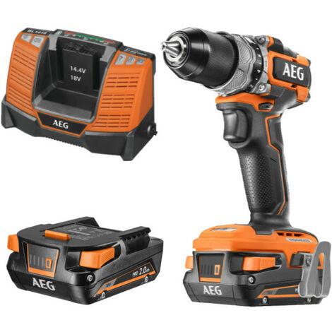 "main image of ""Perceuse visseuse AEG Brushless 18V - 2 batteries 2.0Ah - 1 chargeur BS18SBL-202C"""