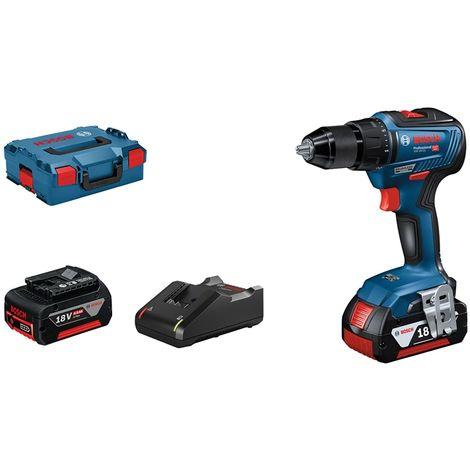 Perceuse-visseuse BOSCH GSR 18V-55 - 2 batteries 18V 4.0Ah chargeur, coffret - 06019H5200