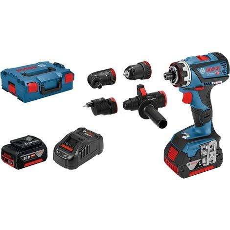 Perceuse visseuse BOSCH GSR 18V-60 FC Professional + 2 batteries 5.0 Ah chargeur + Jeux de 4 mandrins GFA - 06019G7100