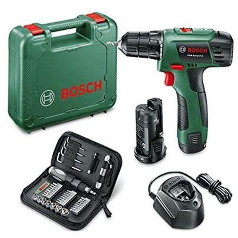 Perceuse Visseuse Bosch PSR EASY LI-2 (10.8V) batterie lithium 1.5 Ah + 38 Accessoires Mallette Bosch